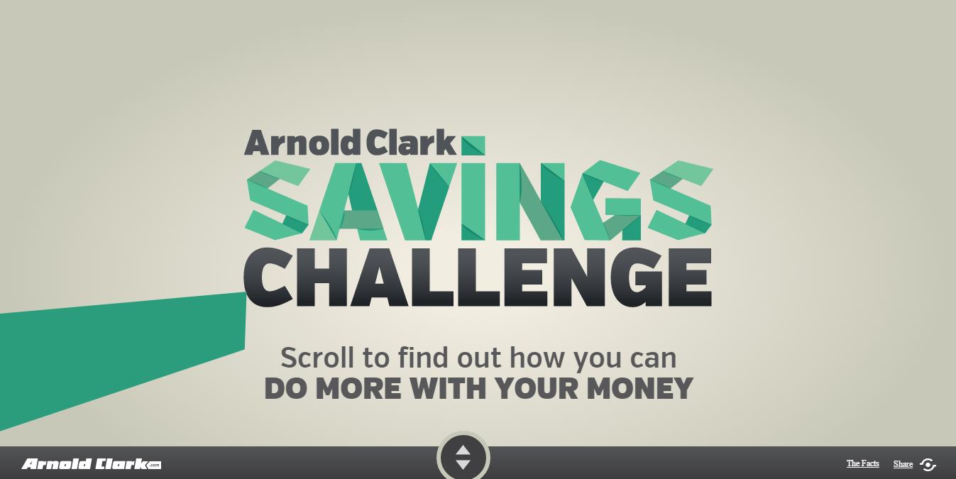 Arnold Clark Savings Challenge параллакс эффект